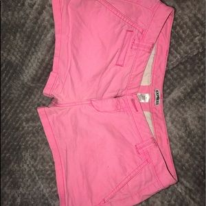 Express pink shorts